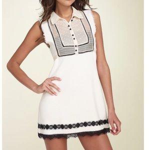 Free People Cream Lace Detail Mini Dress Size M